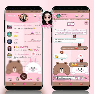 White & Brown Teddy Bear Theme For YOWhatsApp & Fouad WhatsApp By Ariana