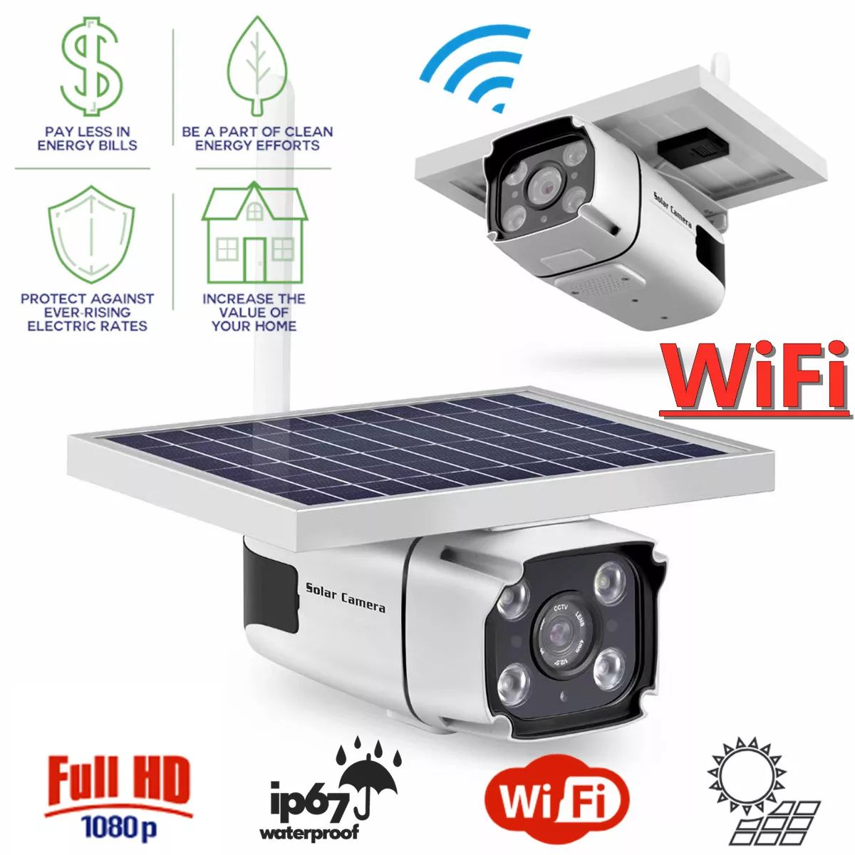 4G Solar IP Camera with Built-in Battery Wireless Outdoor