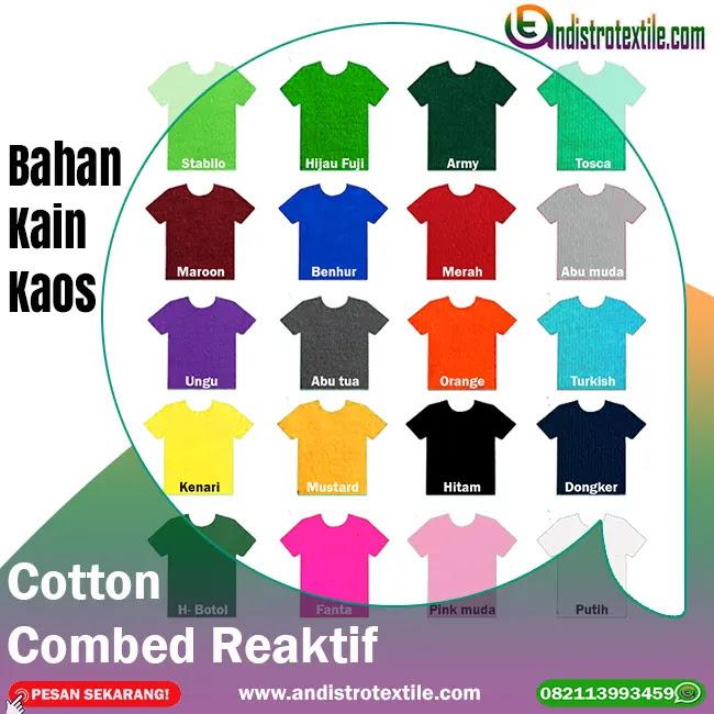 Jual Bahan Kain Kaos Cotton Combed 24s Kiloan Plus Rib Tasikmalaya