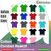Bahan Kain Kaos Cotton Combed 24s Kiloan Ecer Plus Rib