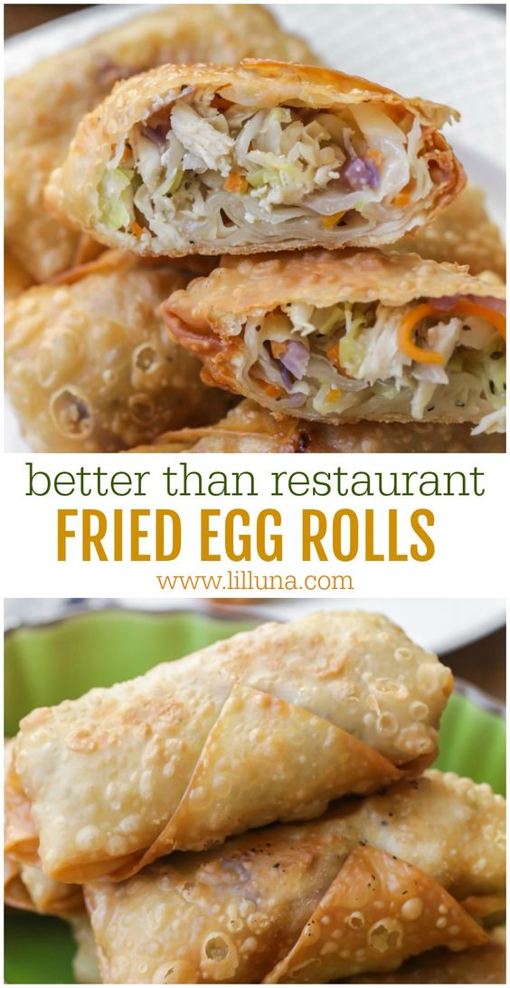 FRIED EGG ROLLS #recipes #chineserecipes #food #foodporn #healthy #yummy #instafood #foodie #delicious #dinner #breakfast #dessert #lunch #vegan #cake #eatclean #homemade #diet #healthyfood #cleaneating #foodstagram