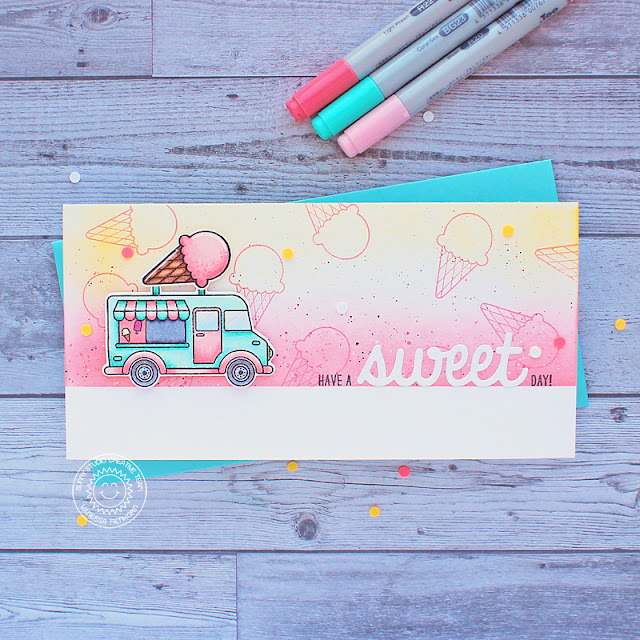 Sunny Studio Stamps: Cruisin' Cuisine Sweet Word Die Everyday Card by Vanessa Menhorn