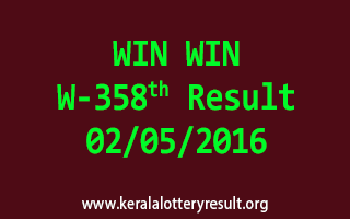 WIN WIN W 358 Lottery Result 2-5-2016