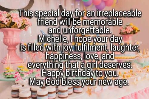 Happy birthday Michelle image
