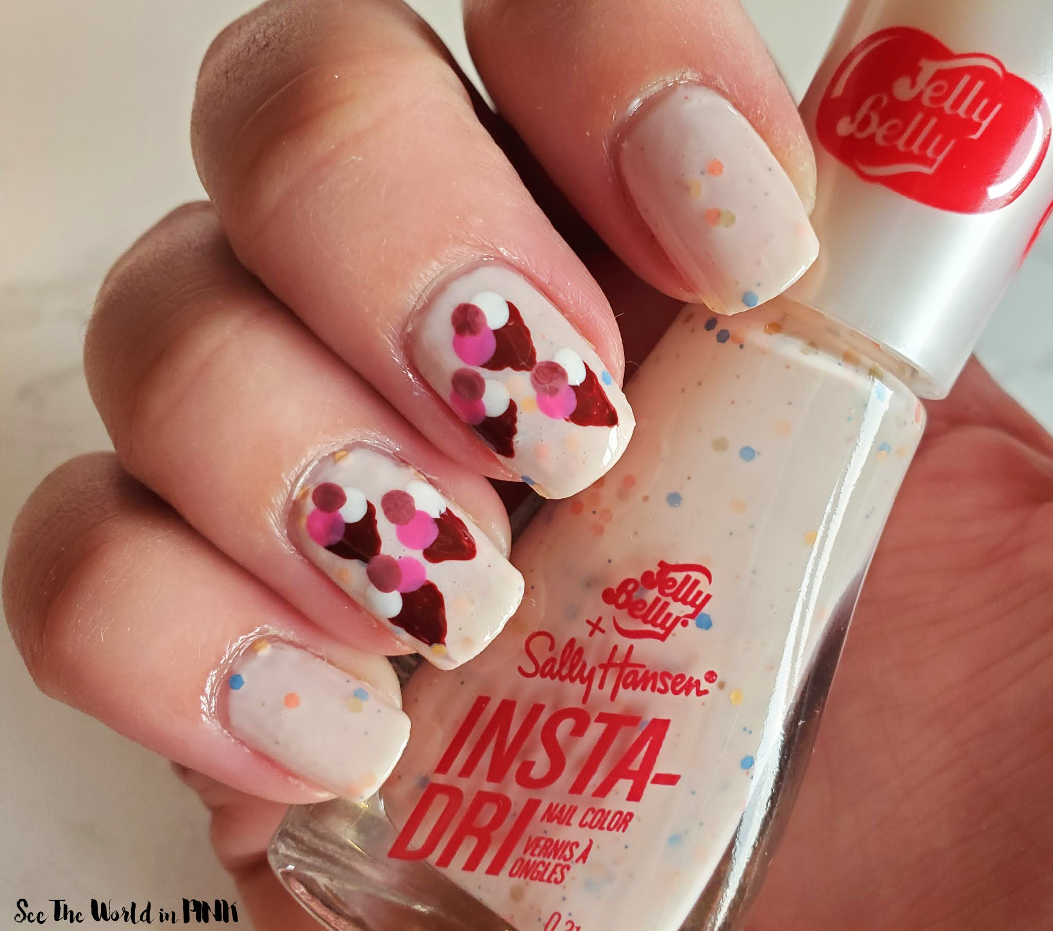 Manicure Monday - Mini Ice Cream Cone Nail Art