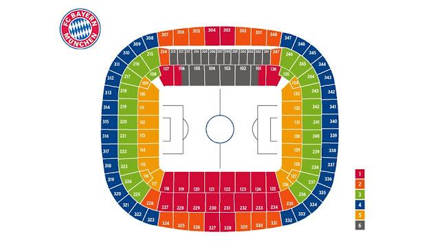 Plan de Stade Allianz Arena – Munich Infos accès , ALLIANZ ARENA SITZPL TZE S DKURVE, ALLIANZ ARENA SITZPLAN KATEGORIE 2, ALLIANZ ARENA SITZPLAN NORDTRIB NE, ALLIANZ ARENA SITZPLAN NUMMERIERUNG, ALLIANZ ARENA SITZPLAN PREISE