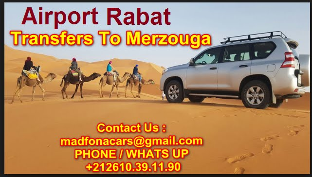 Transfers from Rabat airport to Merzouga