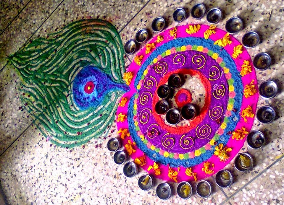 Kolam for Diwali 12