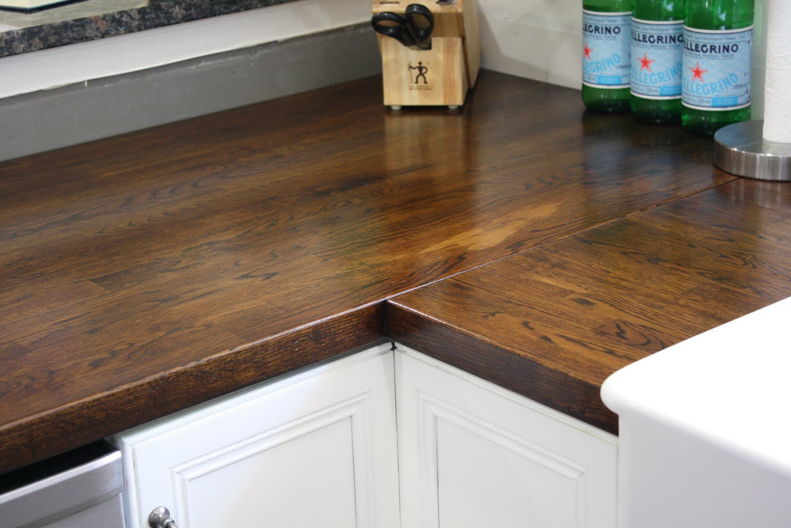 Stillwater story how to stain butcher block countertops for Installing butcher block countertops