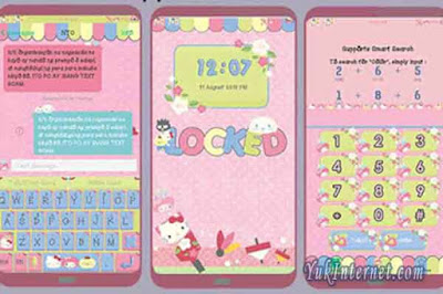 download tema oppo sanrio omanjuu mix