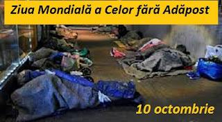 10 octombrie: Ziua Mondială a Celor fără Adăpost