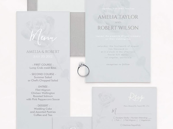Dusty Blue and Gray Wedding Color Palette - Inspiration Invitations and Free Phone Wallpaper
