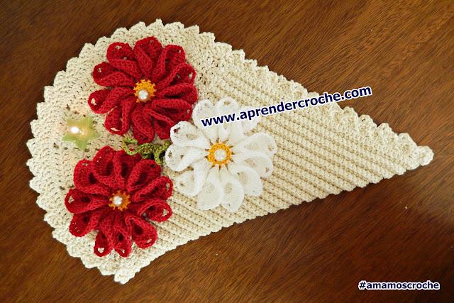 aprendercroche tapete coração arrow flores curso de croche dvd edinircrochevideos