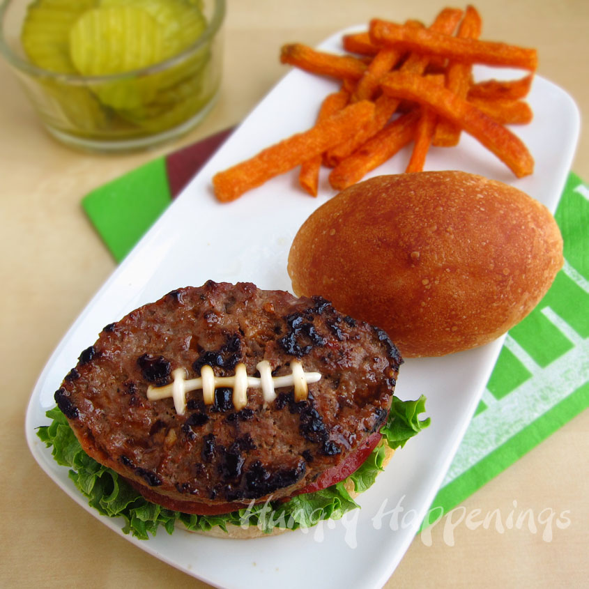 Football Shaped Burger Recipe