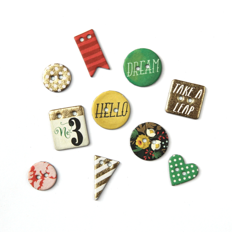 DIY CHIPBOARD BUTTON MAGNETS