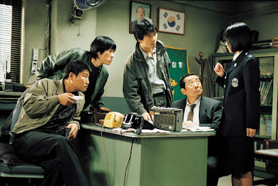 Kang-ho SongKang-ho Song...Detective Park Doo-man Sang-kyung KimSang-kyung Kim...Detective Seo Tae-yoon Roe-ha KimRoe-ha Kim...Detective Cho Yong-koo Jae-ho SongJae-ho Song...Sergeant Shin Dong-chul Hee-Bong ByunHee-Bong Byun...Sergeant Koo Hee-bong (as Hie-bong Byeon) Seo-hie KoSeo-hie Ko...Officer Kwon Kwi-ok Tae-ho RyuTae-ho Ryu...Jo Byeong-soon No-shik ParkNo-shik Park...Baek Gwang-ho Hae-il ParkHae-il Park...Park Hyeon-gyu Mi-seon JeonMi-seon Jeon...Kwok Seol-yung Young-hwa SeoYoung-hwa Seo...Eon Deok-nyeo Woo Go-naWoo Go-na...Kim So-hyeon Ok-joo LeeOk-joo Lee...Oh Nam-joo Jong-ryol ChoiJong-ryol Choi...Gwang-ho's father Seung-mok YooSeung-mok Yoo...Journalist