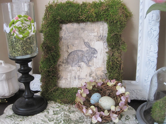 Birch Bunny with a Moss Frame from Decorated Chaos