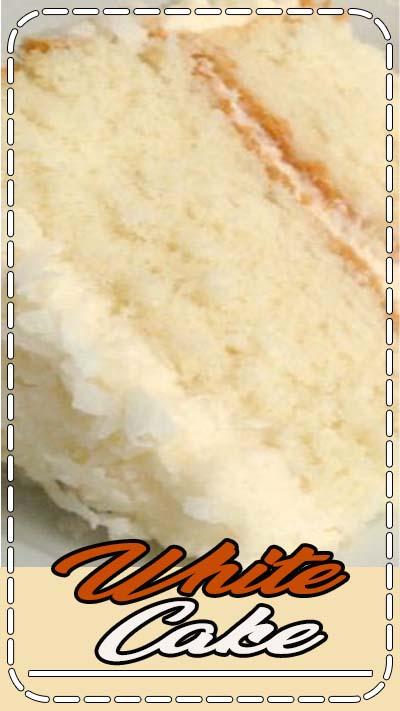 A simple white cake recipe.