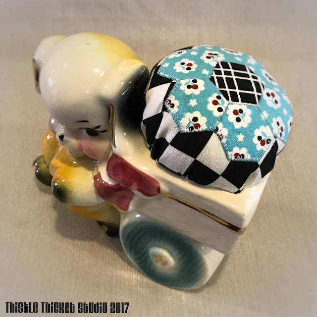 Vintage Planter Pincushion by Thistle Thicket Studio. www.thistlethicketstudio.com