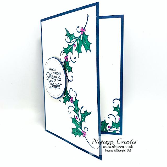 Joyful Holly Colour Challenge Card