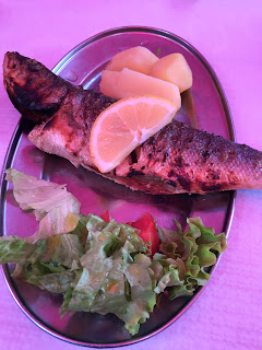 Grilled fish for lunch