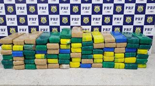 PRF apreende quase 160 kg de droga em dois flagrantes na BR 116