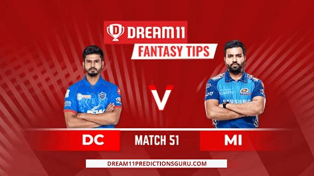 DC vs MI Dream11 Predictions and Expert Fantasy Tips