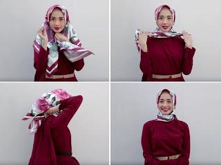 tutorial hijab simple dan rapi seperti laudya chintya bella
