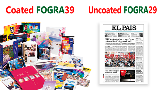 Perfiles de color ICC coated Fogra39 u uncoated Fogra29