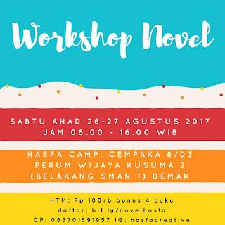 Workshop Menulis Novel Hasfa Camp