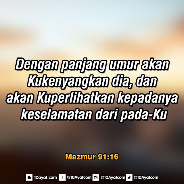 Mazmur 91:16
