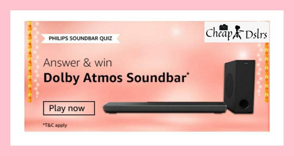 Amazon Philips Soundbar Quiz Answers Win – Dolby Atmos