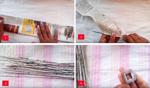 Hiasan Dinding dari Kertas Koran