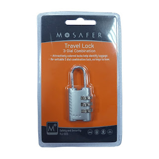 Mosafer 3-Dial Combination Travel Lock