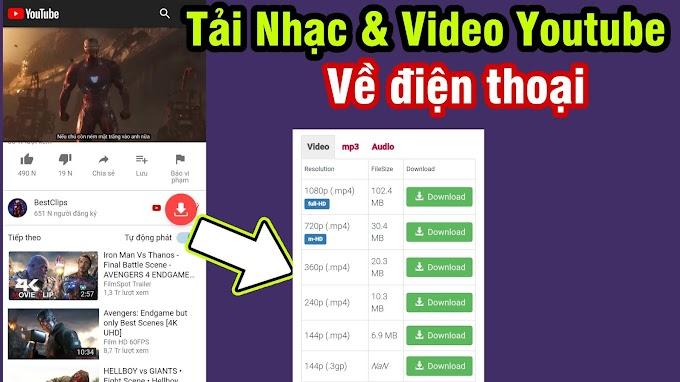 Cách tải Nhạc và Video từ Youtube về điện thoại gọn lẹ │ Youtube Video Conveter App For Android 2019