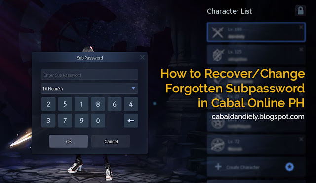 How to Recover Forgotten Subpassword in Cabal PH