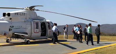 Chineses fazem visita e sobrevoam mina de ferro e ferrovia em Caetité