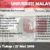 Jobs in University of Malaya (UM) (27 Mei 2018)