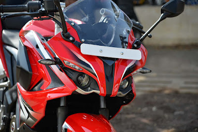 Bajaj Pulsar RS 200 Red Close up shot