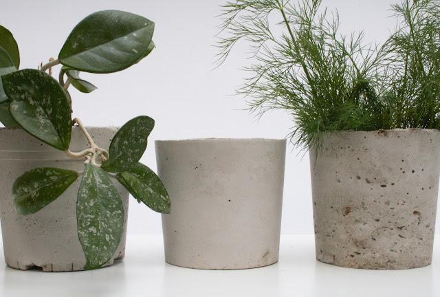 DIY betonové květináče, jak vyrobit betonový květináč