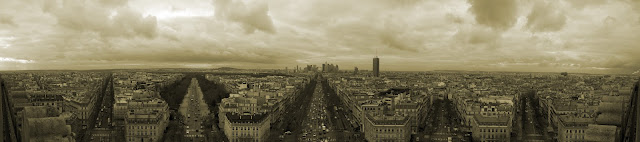 Paris view from Arc de Triomphe (Facing West)