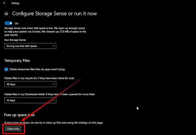4 طرق لتحرير مساحة تخزينية في حاسوب ويندوز 10