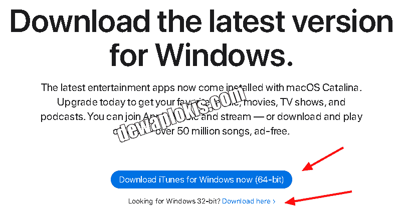 cara download iTunes untuk PC laptop