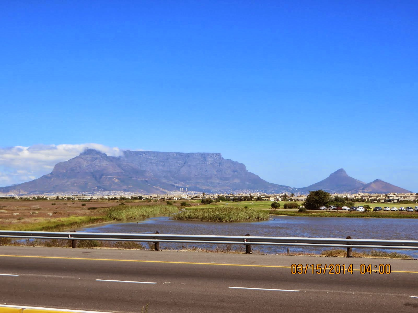 Table Mountain, the famous backdrop for Capetown