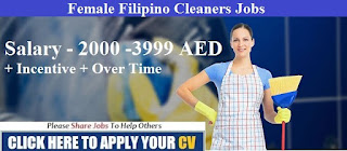 Job Recruitment For Filipino Female Cleaners To Work In Dubai And Sharjah