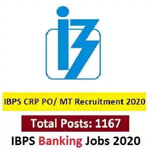 IBPS PO IX (1167 Post) Recruitment 2020 Apply Online IBPS PO Officers & Trainees Vacancy Form 2020, Indian bankibg Jobs 2020, DainikExam com