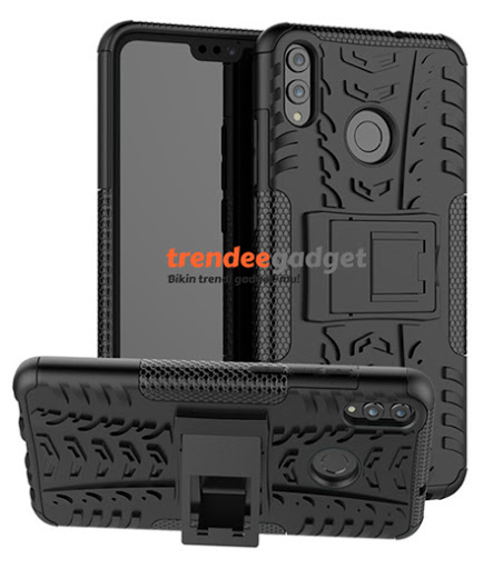 Hybrid Armor Dual Case Honor 8X with Stand Holder