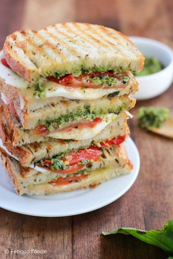 Grilled Mozzarella Sandwich with Walnut Pesto #recipes #dinnerrecipes #easyrecipes #neweasyrecipes #easydinnerrecipes #easyrecipesfordinner #neweasyrecipesfordinner #food #foodporn #healthy #yummy #instafood #foodie #delicious #dinner #breakfast #dessert #yum #lunch #vegan #cake #eatclean #homemade #diet #healthyfood #cleaneating #foodstagram
