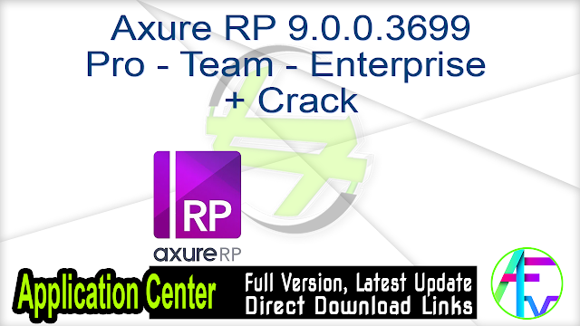 Axure RP 9.0.0.3699 Pro – Team – Enterprise + Crack