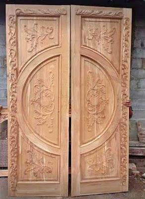 pintu gebyok polos